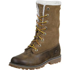 "Timberland Waterproof Shearling Boots 6"" Kids, brown"